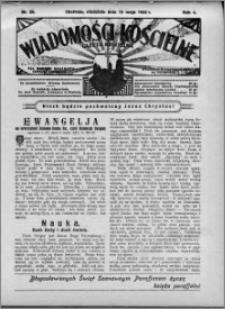 Wiadomości Kościelne : (gazeta kościelna) : dla parafij dekanatu chełmżyńskiego 1932, R. 4, nr 20