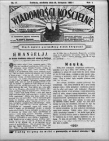 Wiadomości Kościelne : (gazeta kościelna) : dla parafij dekanatu chełmżyńskiego 1932, R. 4, nr 47