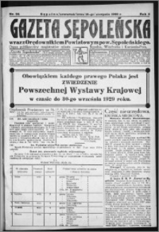Gazeta Sępoleńska 1929, R. 3, nr 94