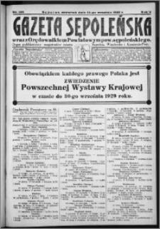 Gazeta Sępoleńska 1929, R. 3, nr 106