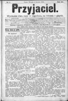 Przyjaciel : pismo dla ludu 1894 nr 1