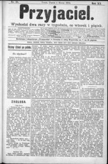 Przyjaciel : pismo dla ludu 1894 nr 18