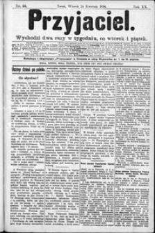 Przyjaciel : pismo dla ludu 1894 nr 33