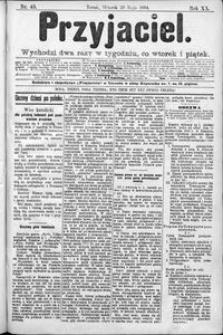 Przyjaciel : pismo dla ludu 1894 nr 43