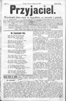 Przyjaciel : pismo dla ludu 1895 nr 1