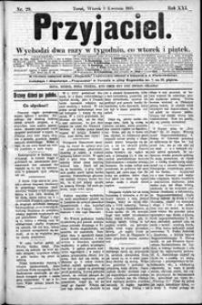Przyjaciel : pismo dla ludu 1895 nr 29