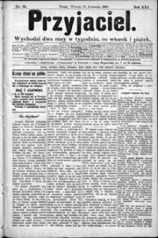 Przyjaciel : pismo dla ludu 1895 nr 33