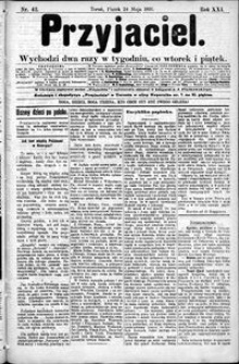 Przyjaciel : pismo dla ludu 1895 nr 42