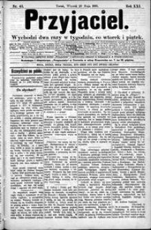 Przyjaciel : pismo dla ludu 1895 nr 43