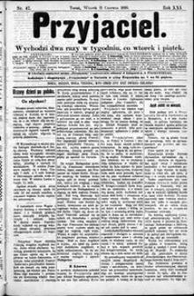 Przyjaciel : pismo dla ludu 1895 nr 47