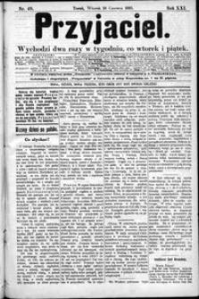 Przyjaciel : pismo dla ludu 1895 nr 49