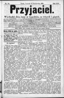 Przyjaciel : pismo dla ludu 1895 nr 88