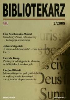 Bibliotekarz 2008, nr 2