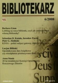 Bibliotekarz 2008, nr 6