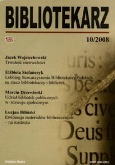 Bibliotekarz 2008, nr 10