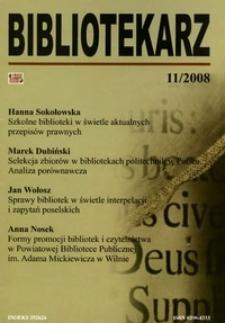 Bibliotekarz 2008, nr 11