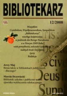 Bibliotekarz 2008, nr 12