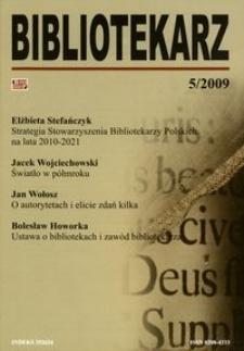 Bibliotekarz 2009, nr 5