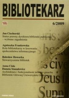 Bibliotekarz 2009, nr 6