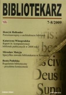 Bibliotekarz 2009, nr 7-8