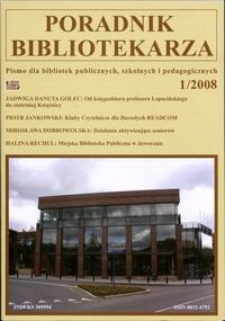 Poradnik Bibliotekarza 2008, nr 1