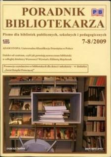 Poradnik Bibliotekarza 2009, nr 7-8
