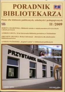 Poradnik Bibliotekarza 2009, nr 11