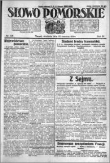 Słowo Pomorskie 1924.06.15 R.4 nr 138