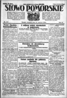 Słowo Pomorskie 1924.06.22 R.4 nr 143