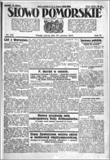 Słowo Pomorskie 1924.06.28 R.4 nr 148