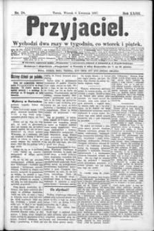 Przyjaciel : pismo dla ludu 1897 nr 28