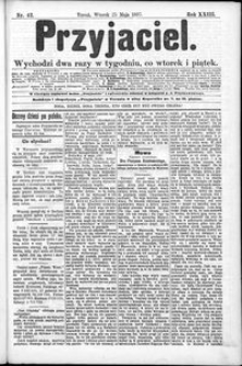 Przyjaciel : pismo dla ludu 1897 nr 42