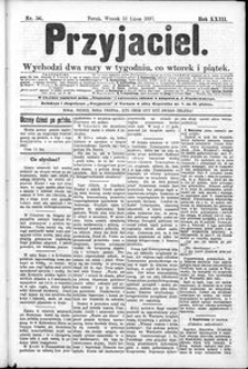 Przyjaciel : pismo dla ludu 1897 nr 56