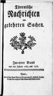 Thornische Nachrichten von Gelehrten Sachen, 1764.01.15 nr 1