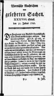 Thornische Nachrichten von Gelehrten Sachen, 1765.07.31 nr 38