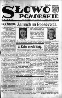 Słowo Pomorskie 1933.02.18 R.13 nr 40