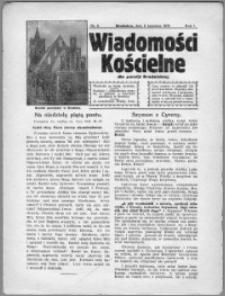 Wiadomości Kościelne dla Parafji Brodnickiej 1930, R. 1, nr 3