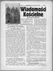 Wiadomości Kościelne 1930, R. 1, nr 6