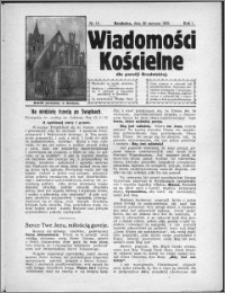 Wiadomości Kościelne dla Parafji Brodnickiej 1930, R. 1, nr 15
