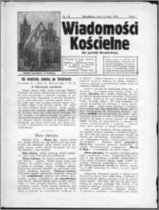 Wiadomości Kościelne dla Parafji Brodnickiej 1930, R. 1, nr 19