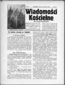 Wiadomości Kościelne dla Parafji Brodnickiej 1930, R. 1, nr 21