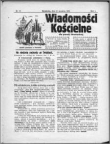 Wiadomości Kościelne dla Parafji Brodnickiej 1930, R. 1, nr 27