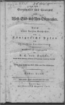 Geographie und Statistik von West- Süd- und Neu- Ostpreußen : nebst einer kurzen Geschichte des Königreichs Polen bis zu dessen Zertheilung. Bd. 1