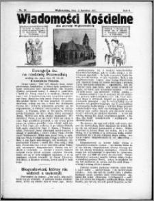 Wiadomości Kościelne dla Parafji Wąbrzeskiej 1930-1931, R.2, nr 20