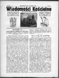 Wiadomości Kościelne dla Parafji Wąbrzeskiej 1930-1931, R.2, nr 52