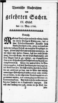 Thornische Nachrichten von Gelehrten Sachen, 1766.05.15 nr 9
