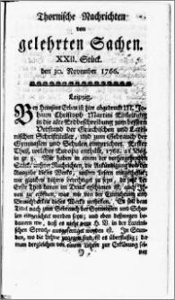 Thornische Nachrichten von Gelehrten Sachen, 1766.11.30 nr 22
