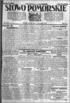 Słowo Pomorskie 1924.11.04 R.4 nr256