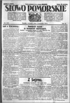 Słowo Pomorskie 1924.11.06 R.4 nr 258