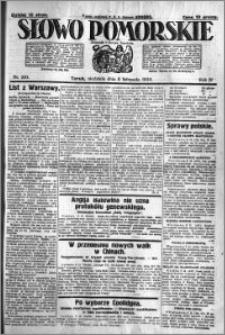 Słowo Pomorskie 1924.11.09 R.4 nr 261